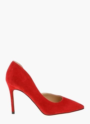Divarese %100 Deri İnce Topuklu Ayakkabı Kırmızı